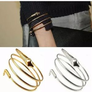 GOLD PLATED COIL WRAP AROUND SNAKE BRACELETS